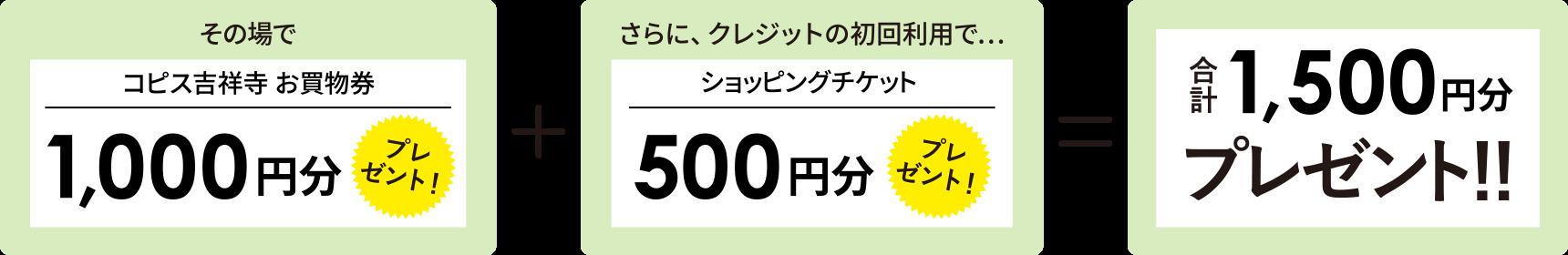 [土日祝]限定 コピスカードご入会キャンペーン
